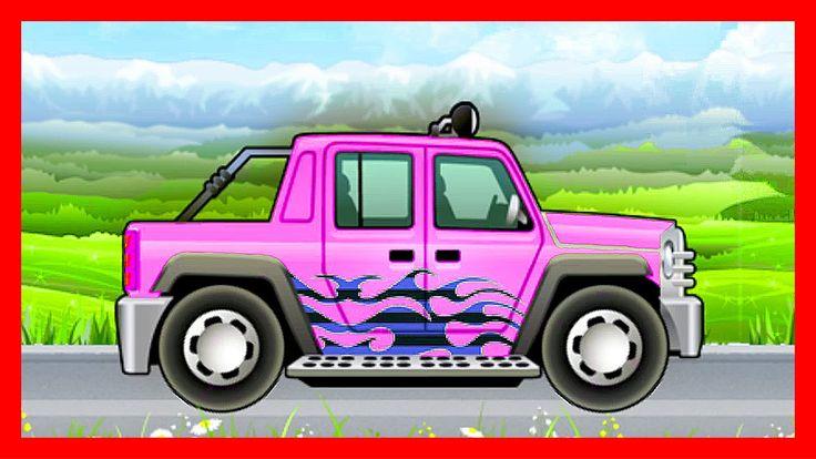 Мультик про машинки - Внедорожник, джип, автотягач, грузовик. Покраска, ...