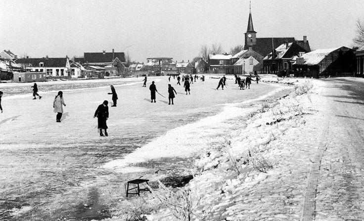 Schaatsen op het ijs van de Rotte