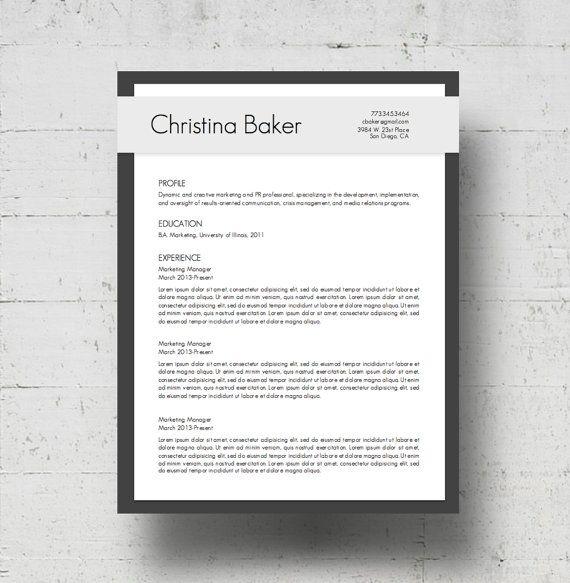 70 best Resume \ Cover Letters images on Pinterest Cover letter - baker resume