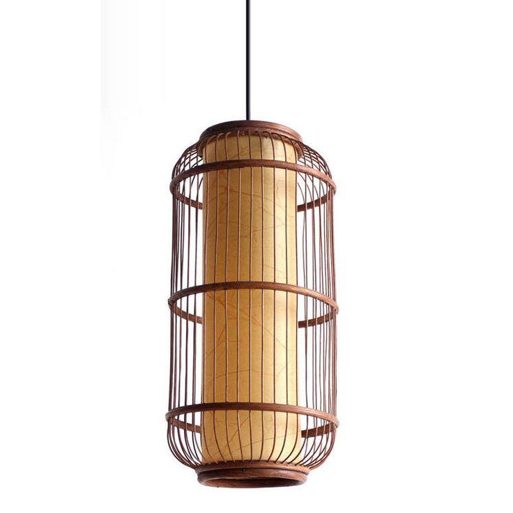 Aliexpress.com: Acheter Asie du sud   rotin bambou cylindre Cage lampes suspendues Cage d'escalier pendentif lampe salle à manger couloir couloir suspendus appareils de lumière pendante abat-jour fiable fournisseurs sur OUOVO