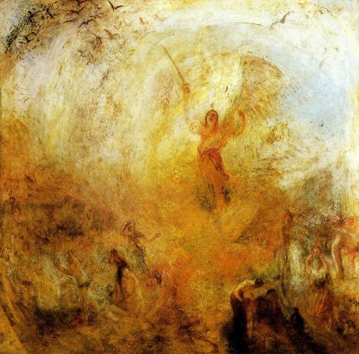"""""""Ангел, стоящий на солнце"""" Уильям Тернер"""