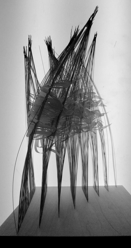 """Part of PRE-Office's collection of architectural drawings made with steel, paper, and magnetic fields.  """"Architects draw: the act of architecture is an act of drawing, that is to say, both drawing the architecture out of a material constituency, and the assertion that a building is in fact, a drawing."""""""