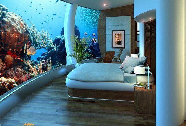 Underwater Bedroom Poseidon Undersea Resort --Katafinga Island, Fiji