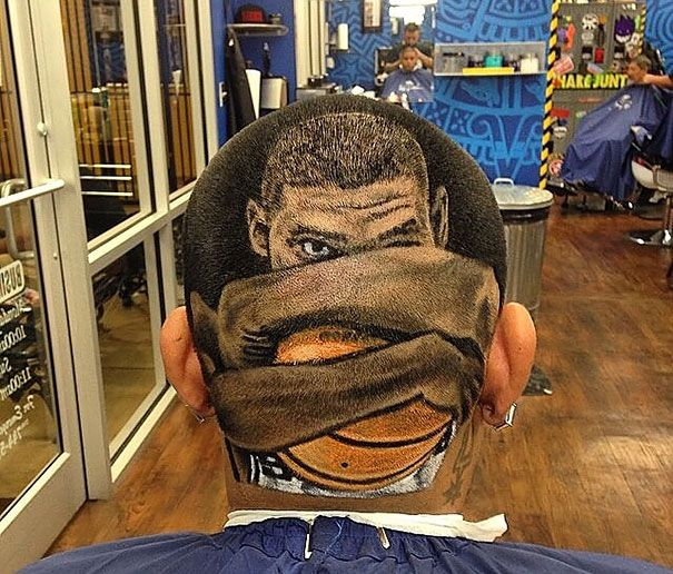 "Gonna have to start a new board for ""Hair Art"" if this become a trend :)"