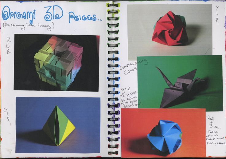 Origami 3D page