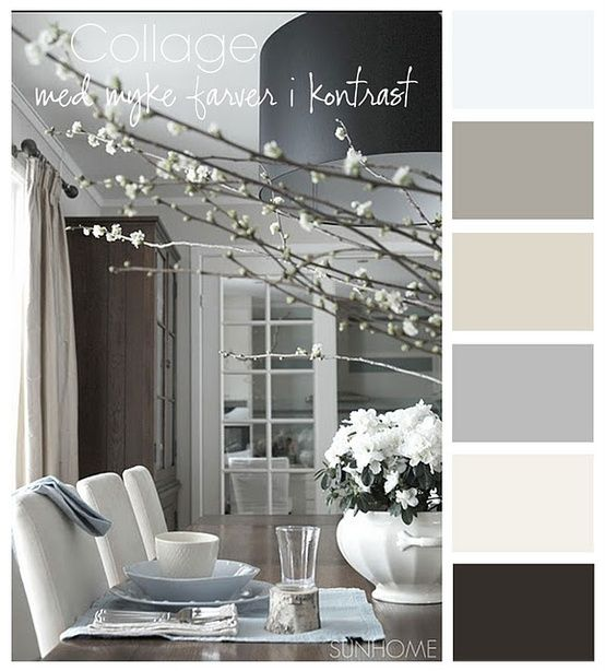 Gray Color Scheme would be fun with yellow and blue pops of color