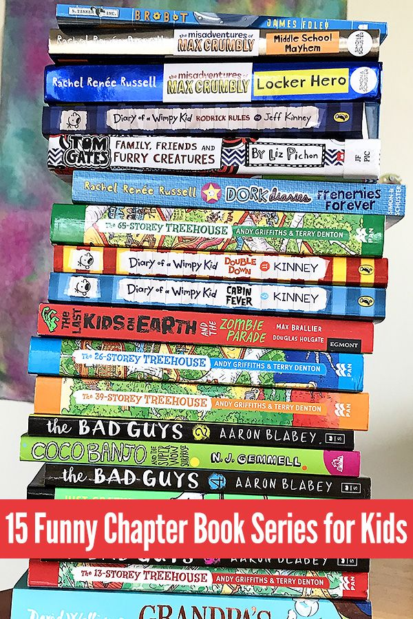 A fabulous list of humorous books for kids aged 7-11 years. Including graphic novels, illustrated chapter books and more traditional style novels, this is a great collection of series' for school aged kids.