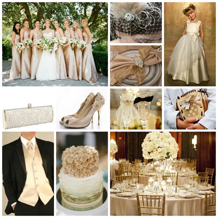 Champagne Wedding Inspiration!  So romantic, elegant and beautiful.  www.thismagicmomentweddingsale.com www.facebook.com/thismagicmomentweddingsale www.twitter.com/pghweddingsale