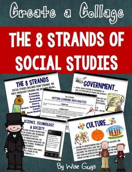Eight Strands of Social Studies - This is a social studies PowerPoint intended to teach students about the 8 strands of social studies. The 8 strands addressed are: Culture, History, Government, Economy, Social Studies Skills, Science, Technology, and Society, Citizenship, and Geography.  {4th, 5th, 6th, 7th grade}