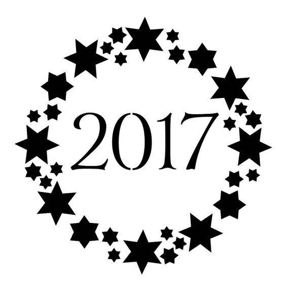 Feliz 2017 reutilizables Laser-corte de la por PearlDesignStudio