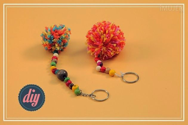 craft ideas, how to make a handmade cool key chain with tutorial