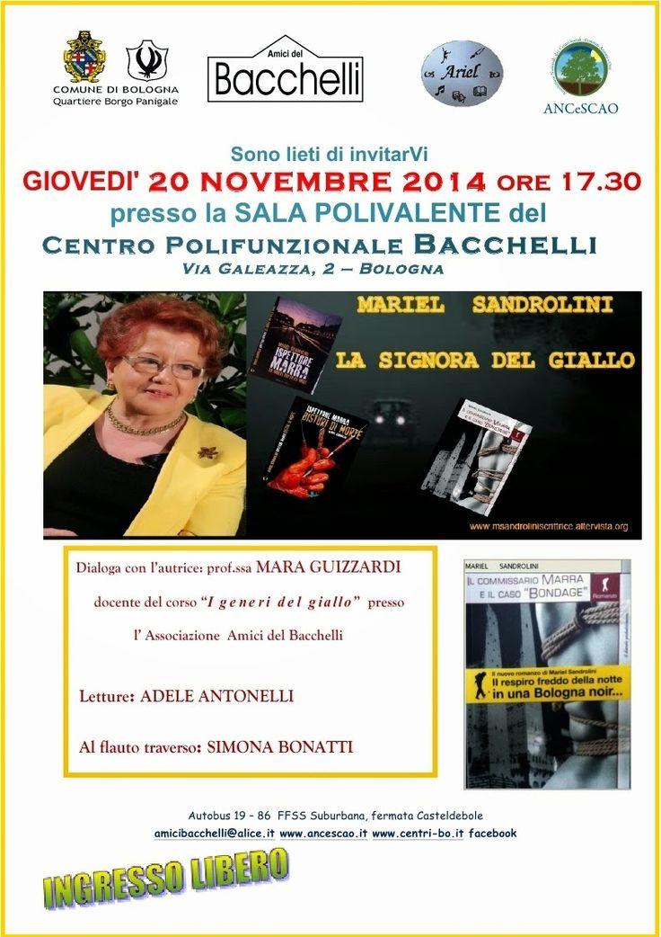 Mariel Sandrolini: Pomeriggio noir all'Auditorium Bacchelli