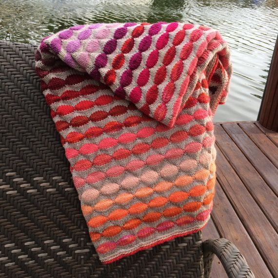 Decorative knit blanket with pure and soft by evelynWpolitzerKnits, $410.00