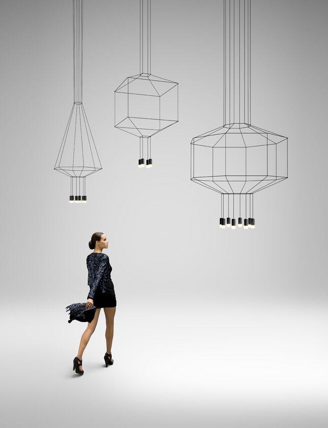 Une exploration géométrique en deux et trois dimensions, Arik Levy a conçu pour la marque espagnole Vibia, un éclairage en pendentif. Wireflow réinterprète d'un point de vue, les luminaires suspendus classiques, grâce à des configurations géométriques capables d'intégrer avec d'autres compositions et de créer une installation lumineuse avec un caractère unique contemporain et original.