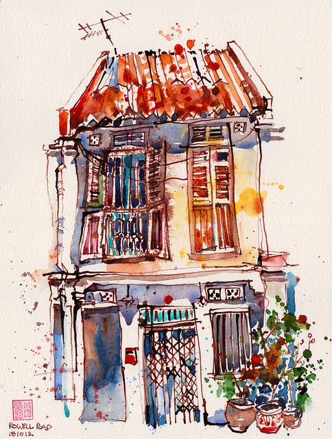 Shophouse at Rowell Road by PaulArtSG, via Flickr