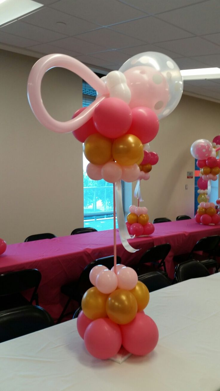 Party decorations miami baby shower balloon decorations - Baby Shower Centerpieces