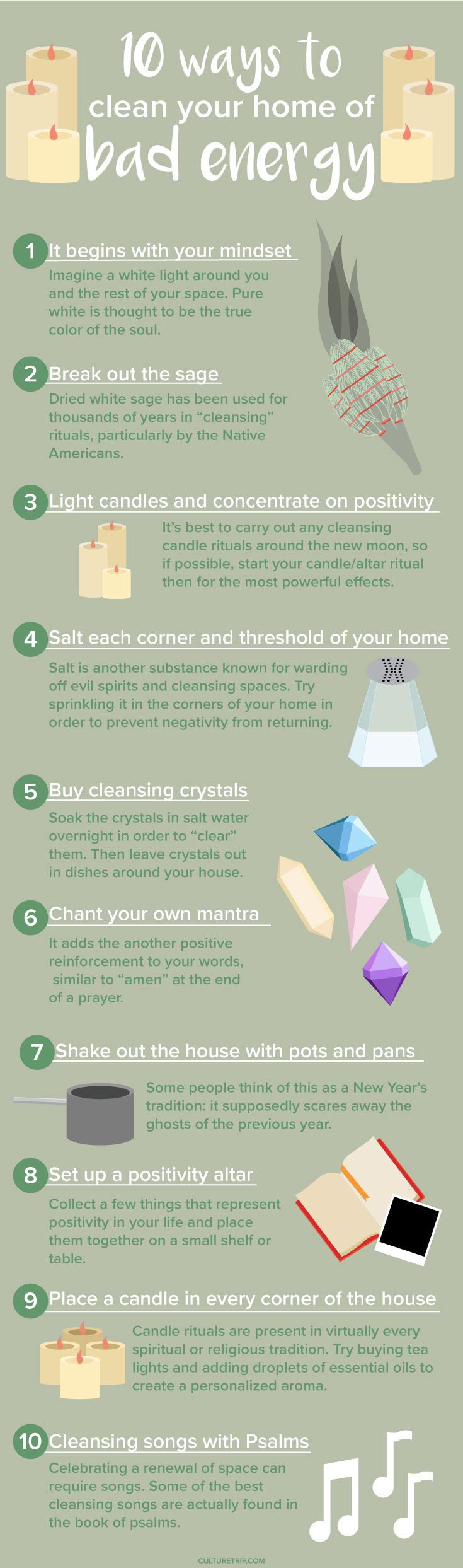 How To Clear Your Home of Bad Energy|Pinterest: @theculturetrip