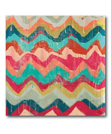 Loving this Hot Chevrons Canvas. Would make it in my room colors.   #zulily! #zulilyfinds