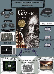The Giver is a 1993 American young-adult dystopian novel by Lois Lowry. It is set in a society which at first appears to be a utopian society but is revealed to be a dystopian one as the story progresses. #glogster #glogpedia #thegiver