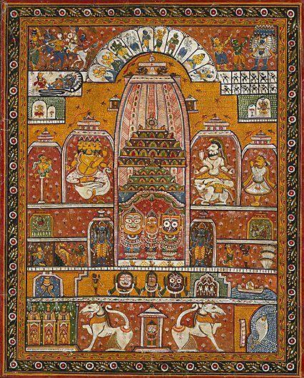 Jagannath Theme in Pattachitra painting