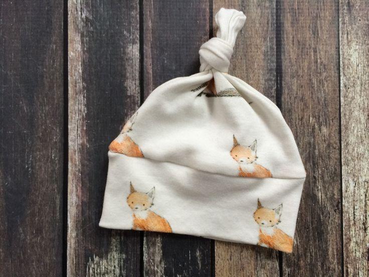 Baby Fox - Organic Baby Knot Hat