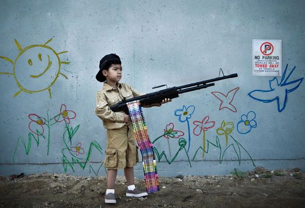 You Are Not Banksy by Nick Stern Real Life Recreations of Banksy's Iconic Images (Part II) via Bored Panda