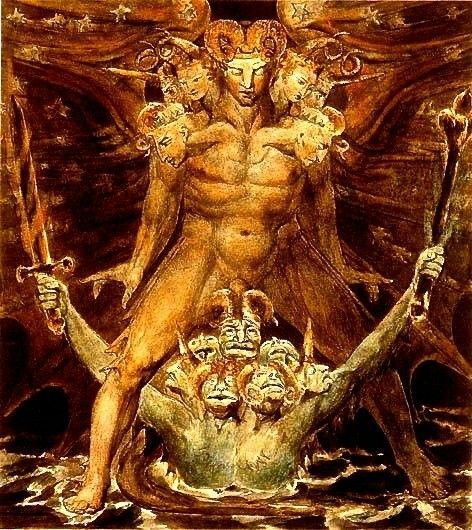 The Great Red Dragon and the Beast from the Sea 1805 William Blake