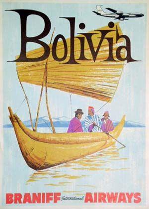 Bolivia #vintage #travel #poster