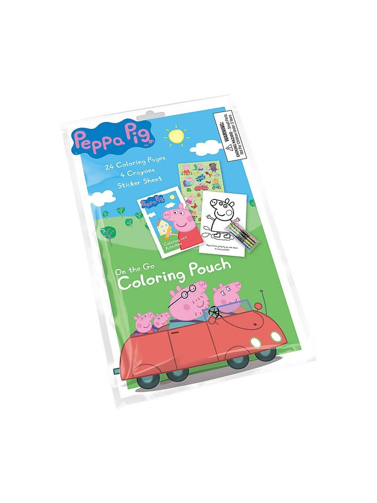 Peppa Pig Coloring Pouch Favor - Stationery & Art & Individual Party Supplies