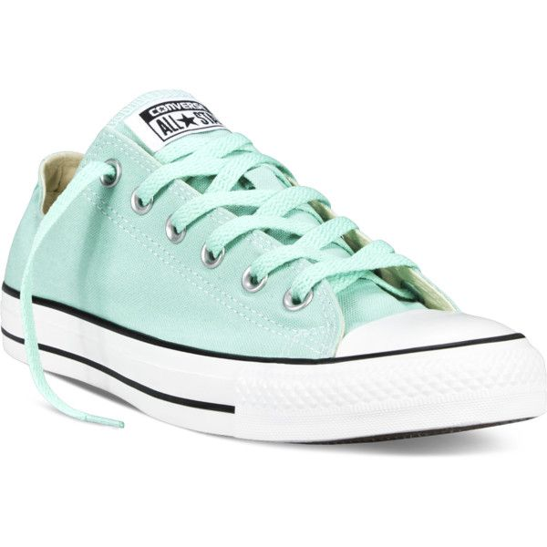Converse Chuck Taylor All Star Fresh Colors – blue Sneakers (£36) ❤ liked on Polyvore featuring shoes, sneakers, converse footwear, low tops, converse shoes, blue shoes und star shoes