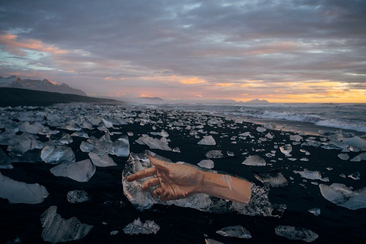 Remember Sean Yoro, the artist that uses his stand up paddle board to access isolated walls to paint life sized portraits? The Hawaiin painter, known as Hula, is at it again with a new series titled A'o 'Ana, translated as The Warning. He recently traveled to Iceland, where he witnessed the