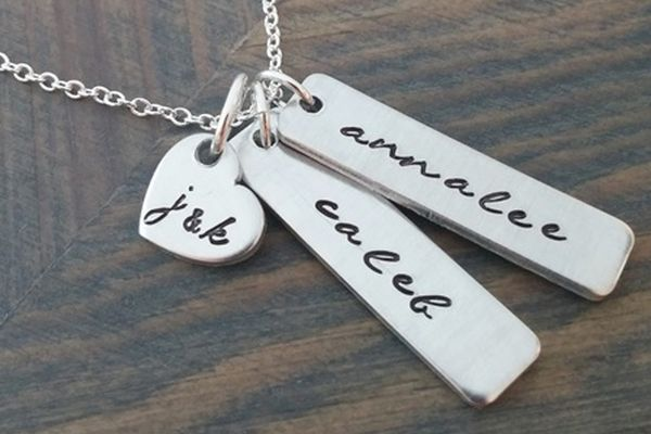 PERSONALIZED NECKLACE WITH KIDS NAMES AND PARENTS INITIALS Have a beautiful necklace personalized with your loved ones' names on it!  34% OFF