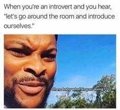 As an introvert, I don't want to be the center of attention.  As an INFJ, I wouldn't know where to begin.   So this is double the trauma, and simply not worth it. For more such memes join us at Refuge Survivors: Facebook.com/groups/RefugeSurvivors
