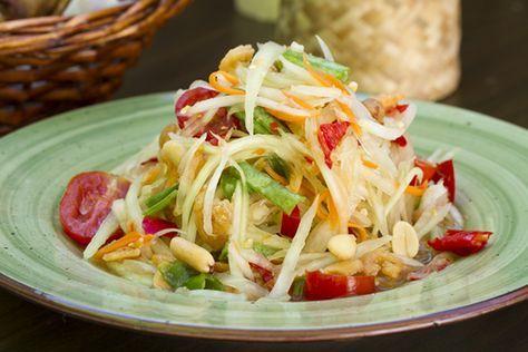 Som Tam (auténtica Ensalada de Papaya verde Tailandesa) | Kwan Homsai