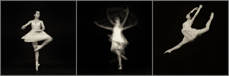 Triptych image - Ballet dancing by Ilan Wittenberg
