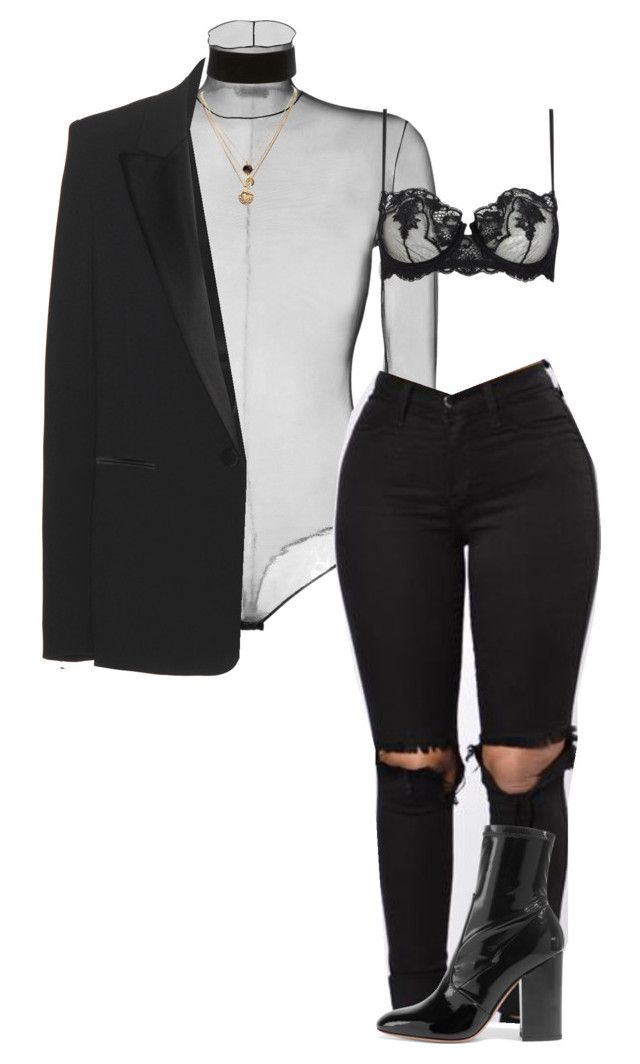 """""""amore"""" by wmnr ❤ liked on Polyvore featuring Akris, La Perla, Valentino, Charlotte Russe, LowLuv and Tom Ford"""