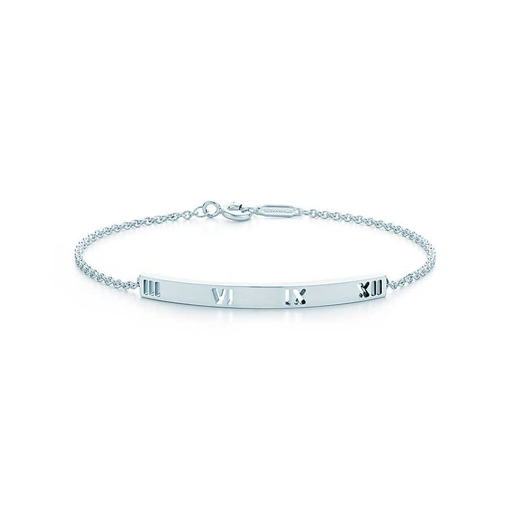 Tiffany & Co. - Atlas® bar bracelet in sterling silver, medium, delicate, perfect and clean. #tiffanys