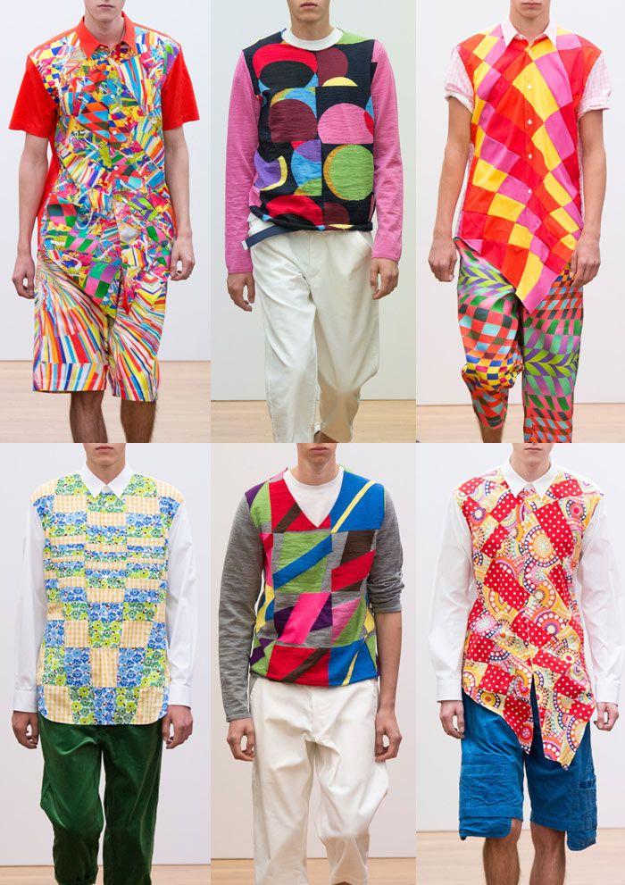 Paris Menswear Print Highlights – Spring/Summer 2015 catwalks - Comme des Garçons