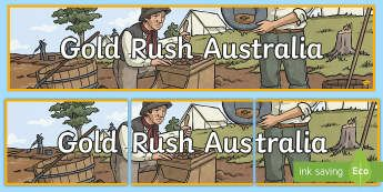 Gold Rush Australia Display Banner - Gold Rush, Eureka Stockade, gold, history, Australia,Australia
