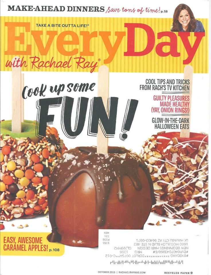 Every Day With Rachel Ray Magazine October 2015 Halloween Eats Recipes Cooking  #doesnotapply
