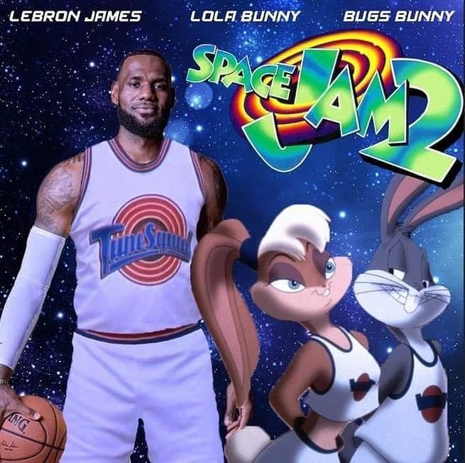Lebron James Says Man This Really Just Hit Me I M Really Shooting Space Jam 2 This Is So Surreal And Doesn T Even Make Sen Michael Jordan Bugs Bunny Film