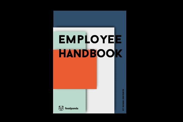 Employee handbook on behance pinteres for Employee handbook cover design template
