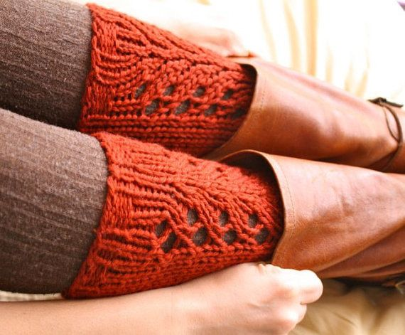 KNITTING PATTERN  Lacefield Knit Legwarmers  Boot by NeekaKnits, $5.00