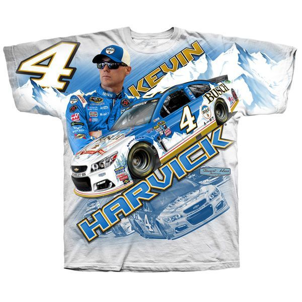 Kevin Harvick Stewart-Haas Racing Team Collection Total Print T-Shirt - White - $23.99