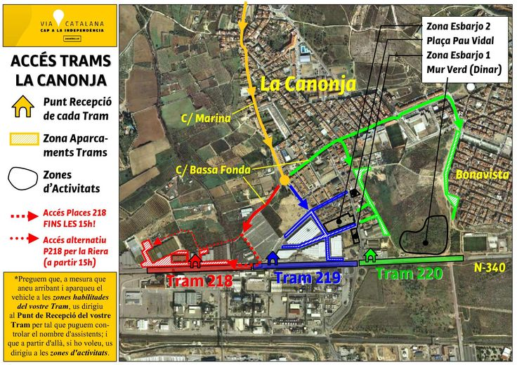 Accés a les places d'aparcament dels Trams 218, 219 i 220