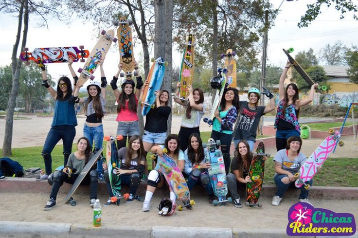 Chicas Riders and Longboard Gilrs Crew Chile