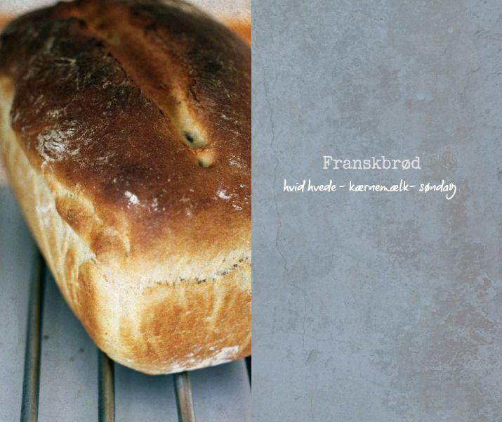 Opskrift på nemt franskbrød med hvid hvede og kærnemælk