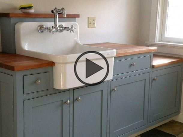 Farmhouse Utility Sink Laundry Room Traditional With Beaded Cherry En 2020
