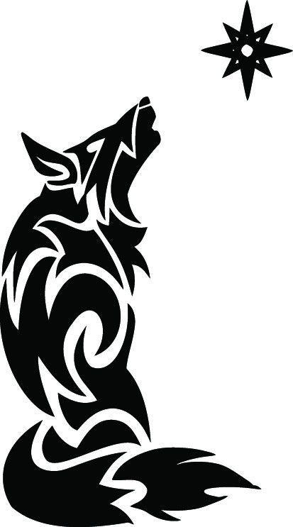 NEW TRIBAL WOLF #TAN1/233 DECAL VINYL GRAPHIC TRAILER CAR  SUV STAR RV VEHICLE #ORACAL651GENFORMULATIONSDEPENDINGONCOLOR