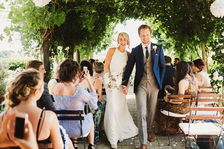 Destination | Outdoor Italian Wedding at Borgo Petrognano Planned by Tuscan Wedding Planners | Orleans Sarah Seven Backless Bridal Gown | Pink ASOS Bridesmaid Dresses | Pink & White Peonies Bouquet | Frances Sales Photography